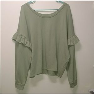 Lucky Brand NWTS green sweater/ pull over